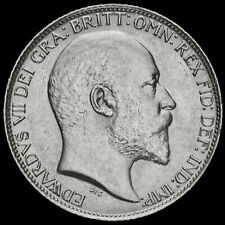 More details for 1906 edward vii silver sixpence, scarce, a/unc