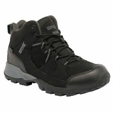 Regatta Mens Holcombe Mid Leather Waterproof Walking BOOTS Black 11