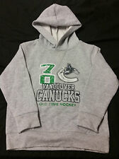 Old Time Hockey, Vancouver Canucks, Grey/Green, Size 4T Sweatshirt Hoodie (NEW)