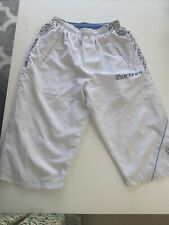 Carbrini Boys White 3/4 Length tracksuit bottoms age 13-15 yrs