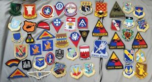 50 POST WWII TO MODERN US ARMY MILITARY PATCH LOT