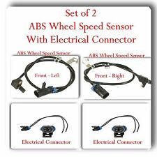 2 x ABS Wheel Speed Sensor w /Connector Front Left & Right Fits:GM  K2500 K3500
