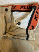 "Plugg Flex 29 x 9"" Khaki Flex Cotton Casual Chino Shorts"