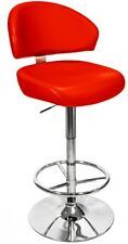 Febland Casinò girevole regolabile Bar Stool, Rosso