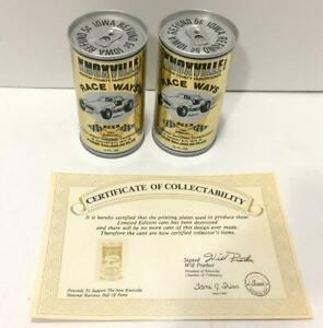 LOT OF 2 VINTAGE1979 KNOXVILLE IOWA RACE WAYS BEER CAN COLD SPRING BREWING CO