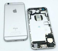 Backcover für iPhone 6s Vormontiert Gehäuse Akkudeckel Rückseite Silber + Tasten