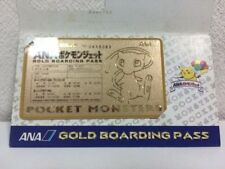 Rare!! Pokemon PROMO ANA Limited mew GOLD Boarding Pass Card 1998