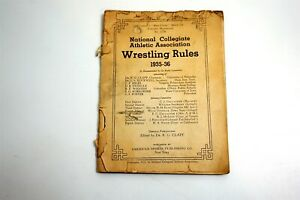 NCAA 1935-36 WRESTLING Rule Book For College and High School