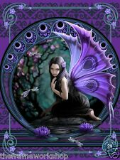 ANNE STOKES NAIAD PURPLE FAIRY - 3D CULT FANTASY MOVING PICTURE 300mm x 400mm