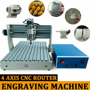 USB 4 Axis 400W CNC 3040 Router Engraver Engraving Wood Drilling Milling Machine