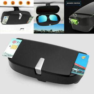 Card Car Sunglasses Case Auto Storage Box Eye Glasses Holder Sun Visor Clip