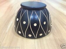 Mango Bowl Wood Wooden Salad Hand Snack Fruit Round Carved Work Cooking Utensil