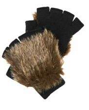 New Gymboree Boys Animal Party Dress Up Gloves 8 year and Up Brown Faux Fur