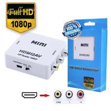 2018 HDMI To AV RCA CVBS 1080P Composite Audio Video Converter Box Upscaler USA