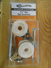 """Gallagher ELECTRIC FENCE 1 1/2"""" TAPE END TENSIONERS -2 PACK Livestock Horses NEW"""