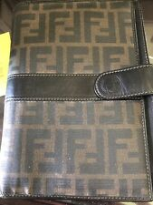 FENDI Zucca Canvas Agenda Day Planner Cover Brown Authentic