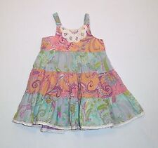 Mimi & Maggie Lace Trimmed Tiered Paisley Sun Dress, 18 mos.