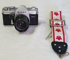 RICOH Singlex TLS 35mm Film Camera w/ Rikenon Japan 55mm Lens F 1.4