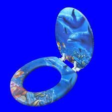 Fashion High Quality Soft Toilet Lid Seat Warm Cover Set Sea World Sponge Design