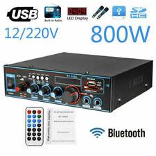 800W 12V/220V MINI AUDIO AMPLIFICATORE BLUETOOTH AUTO HIFI RICEVITORE Radio FM