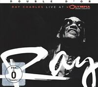 RAY CHARLES - LIVE AT THE OLYMPIA  CD + DVD NEW