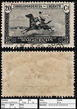 3288 SPANISH MOROCCO SG E138 20c Black. 1928. Mi104 Sn E4 Yt146 Edi118. Fine. c£