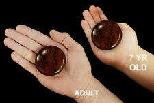 "Palm Stone Mahogany Obsidian 2 1/2"" Massage Polished Healing Sacral Chakra"