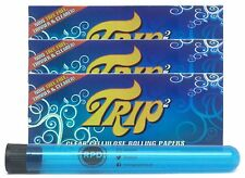 Trip 2 Cellulose Clear Rolling Papers King Size (3 Packs) with RPD Doob Tube