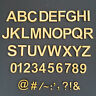 Wooden Letters & Numbers Alphabet Name Words Ariel Bold Font Size 2cm to 10cm