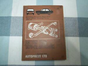 DATSUN B110 SERIES 1200  WORKSHOP MANUAL 1970/1972