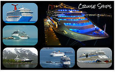 CRUISE SHIPS - SOUVENIR NOVELTY FRIDGE MAGNET - NEW - GIFT / XMAS