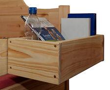 Ablagebox zum Anhängen an jedes Kinder-oder Jugendbett Massivholz Bio Oberfläche