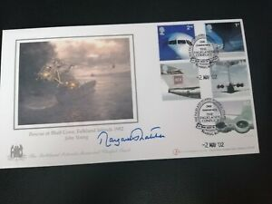 MARGARET THATCHER SIGNED FDC-20TH ANNIVERSARY OF THE FALKLANDS CONFLICT 02/05/02