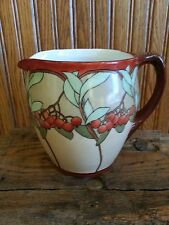 VINTAGE HAND PAINTED CIDER PITCHER-Signed A.L.B.-PERFECT CONDITION!