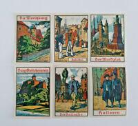 HALLE SAALE NOTGELD 6x 50 PFENNIG 1921 EMERGENCY MONEY GERMANY BANKNOTES (14330)
