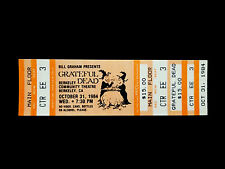 Grateful Dead Ticket Witch Halloween Witches Berkeley Com Theatre BCT 10/31/1984
