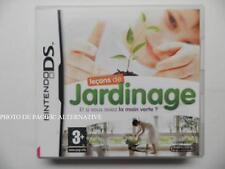 jeu LECONS DE JARDINAGE sur nintendo DS en francais game juego spiel gioco TBE