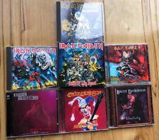 1990's Iron Maiden Bruce Dickenson Rock Metal CD Lot MINT Signed Autograph Shirt