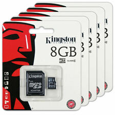 Lot of 5 Kingston 8GB micro SD SDHC Flash Memory Card Class 4 SDC4/8GB Lot of 5