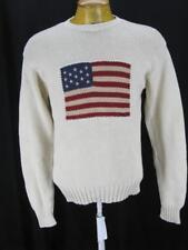 Men's Polo Sport Ralph Lauren Cotton USA American Flag Sweater XL X-Large