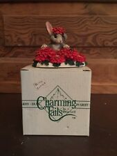 Silvestri Charming Tails Dean Griff Binky in Zinnias Figurine with Box
