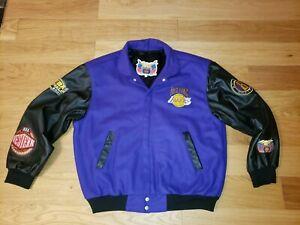 RARE JEFF HAMILTON L.A. Lakers NBA Champs 2000 KOBE Leather Letterman Jacket XL