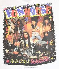 M * vtg 1990 FUNHOUSE Generation Generator t shirt * GLAM METAL SLEAZE * 62.128