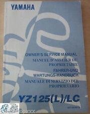5ET-28199-30 Manual Del Propietario YZ125 (L) / LC 1998