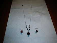 "Turquise Color Style ""Y"" Necklace and Earrings"