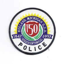 **HOLLAND MICHIGAN 150 YEARS OF SERVICE POLICE PATCH**