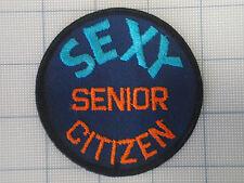 Vintage SEXY SENIOR CITIZEN  patch 70s-80s disco biker trucker Funny   3