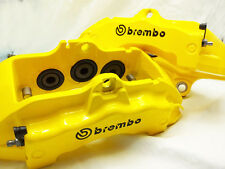 4x 105mm BREMBO BLACK BRAKE CALIPER DECALS STICKERS HIGH TEMP