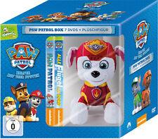 7 DVDs * PAW PATROL BOX - DVD VOL. 1 - 7 (TOGGOLINO) INKL. PLÜSCH HUND MARSHALL