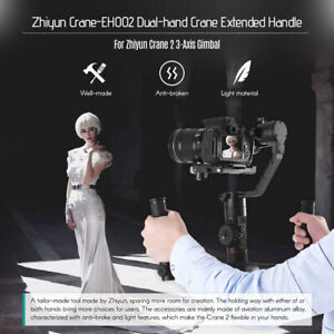 Dual Grip Bracket Kit Extended Handle for Zhiyun Crane Gimbal Stabilizer Y2C3